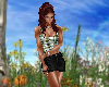 Plaid & Black Skirt