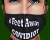 6 FeetAway Covidiot BlkM
