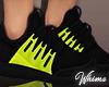 Blackk Neon Sneakers
