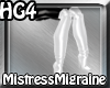 +MMP White Silver Boots