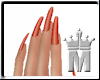 MM-Orange Nails