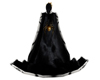 Gothic Spider Cape Black