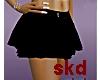 (SK) black layered skirt