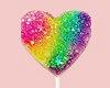 Rainbow Glitter Lollipop