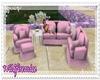 Wild's Pink Couch Set