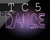 Neon dance sign