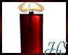 *H Red Single Candle
