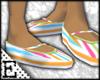 [E] Striped Ballet Flats