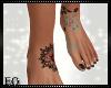 Eo) Flowers Feet Tattoo