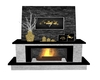 Black and Gold Fireplace