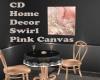 CD Home Decor Swirl Pink