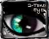 2Tone TealBlk Eyes F