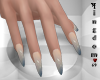 Sharp nails, mix gray