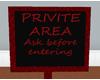PRIVATE areaSIGNredBLACK