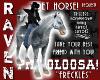 PET HORSE - FRECKLES!