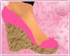 *B*Peep Toe Wegdes-Pink