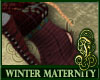 Winter Maternity Red