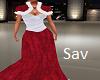 Christmas Velvet Gown