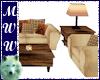 Country Cabin Sofa Set