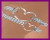 (R)Silver Heart Bracelet