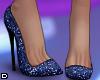 D. Sequin Heels Blue