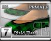 [BE] Green Plaid Flats F