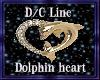 D/c Dolphin Heart Chain