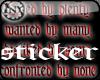 ~x~HatedByPlentySticker