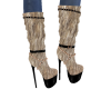 Tan Furry Boots