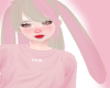 Plat/pink bunny ears