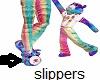 kids bear heart slippers