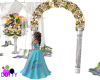 wedding arch panzies