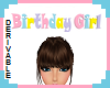 (S) Bday Girl Head Sign