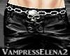 Black Vamp Pants Male