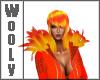 Shoulder feather orange