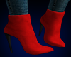 Eve Suede Boots RED