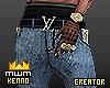 k- jeans + belt + money.