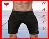 H. Ripped Shorts Black