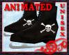 Skates - Black Skulls