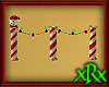 Lighted Santa Fence
