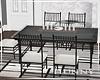 H. Modern Glass Table
