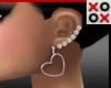 Metal Heart Earrings Set
