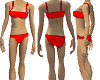 Red Two Piece Straps