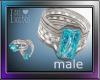 Silver&Aquamarine Ring M