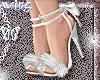 fur heels . NY white