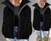 D. Fluffy Jacket Black