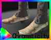 C! Gold/Brown Snake Boot