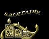 sticker sagitaire gold