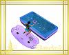 banera bebes lila y azul