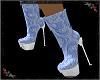 Lace Ankle Boots blue